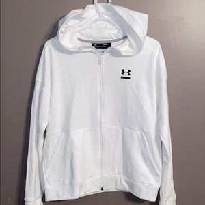 Under Armour Hoodie white Loose Fit size M